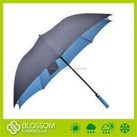 2016 Fashion windproof polyester uv protection weatherproof golf umbrella