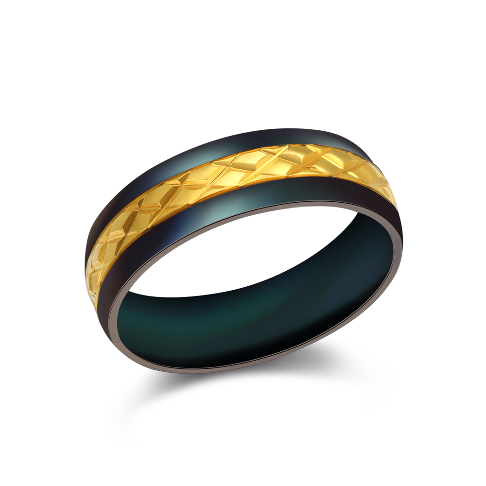 Gay Men Promise Jewellery Gold Design Black Titanium Ring Price