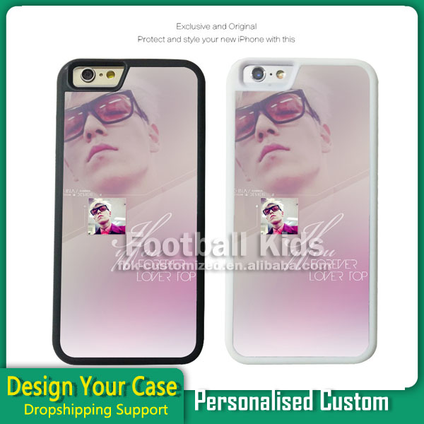 High quality DIY customized printing phone cases, TPU rubber sublimation 2d cell phone case for iPhone 7/7plus with metal insert