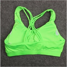 Portable sport bra custom band sexy sheer tops yoga breathable dri fit for wholesale