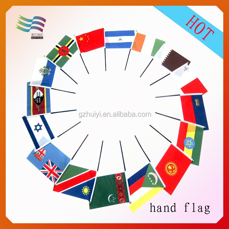 Hot Sale countries cool hand flag for 2015 Soccer Games
