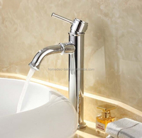 Polished brass basin sink taps rotating spout high body faucet