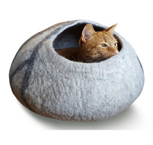 100% Wool Felt Cat Caves Handcrafted Cat House