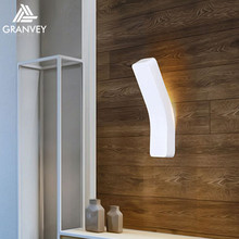 Indoor waterproof black and white wall mounted bathroom lamp bend led wall light