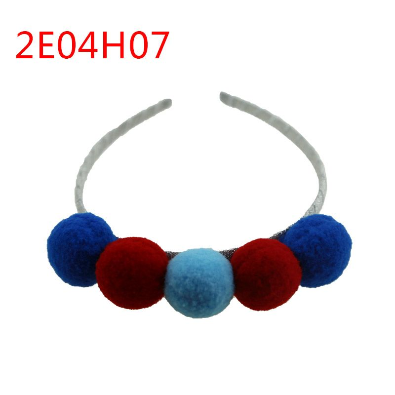 High quality handmade cute color ball hair bands for girls accessories