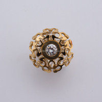 diamante stainless steel tat ring for ladies