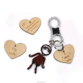 heart keychain wooden hearts custom keychain