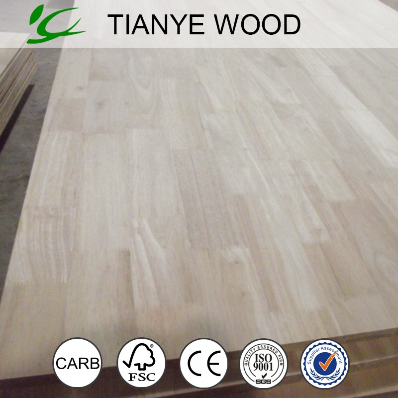 Rubberwood finger joint board/finger joint panel/finger joint lumber from tianye group