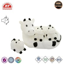 new products custom mini plastic toy milk cow for baby