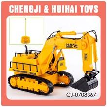 Cheap 1:45 five channel toy rc hydraulic excavator for sale
