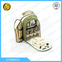 High quality hot-sale insulated food picnic cooler bag Insulated 4 person picnic rucksack