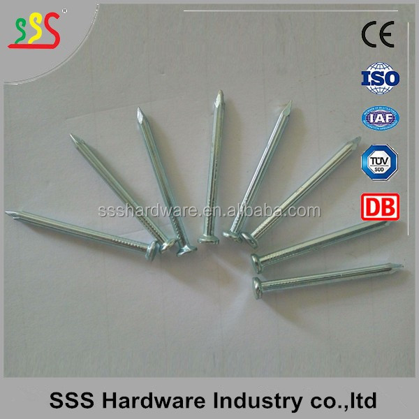 Low Carbon Harded Steel Galvanized Concrete Nails for construction (skype: helenlee558)