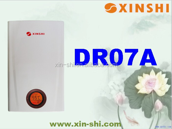 Instant Tankless Electric water heater of 240v/ 400v 18/21/24kw for central water supply for whole house--DR07A