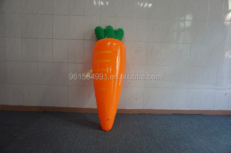 Plastic inflatable carrot toys for kids-30""