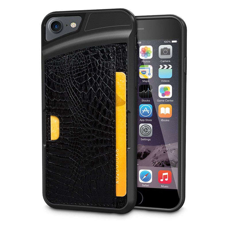 Wholesale Accessories Business Card Case for Apple IPhone 6 / 6 plus/7/7 plus Phone TPU PU Case