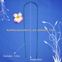 Hard Colorful Bamboo Flower Stick