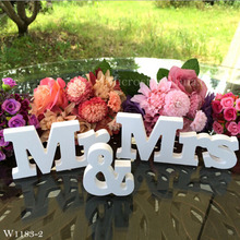 Wooden Letters Wedding Sign Decoration MR & MRS Wooden Alphabet Letters