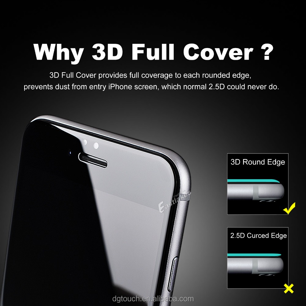 Clear 3D Full Screen Cover Protective Tempered Glass Screen Protector For iPhone 6/6s