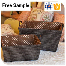 High quality Large storage woven straw baskets with handle
