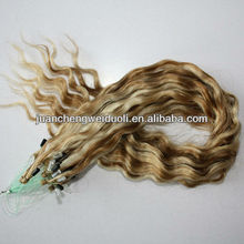 New fashion micro loop ring hair extension 1g strand Piano color indian remy human hair 18inches