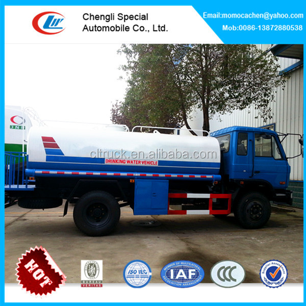 Dongfeng 4x2 stainless steel water tank truck 12000 liters water tanker truck potable water truck for sale