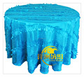 Custom Made Cheap Price turquoise Taffeta Petal Round Wedding Table Cloth