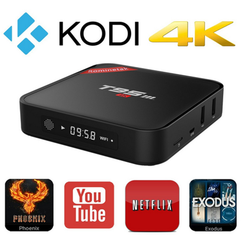 1080p 2.4G+Bluetooth/2GB DDR3 WiFi T95M smart tv android ott box
