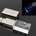 Crystal USB 8GB And Gifts LED Light USB Flash Drive With Custom Logo