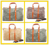 New Fashion Mens Durable Medium Travel Duffel Bag Canvas Leather for Weekender