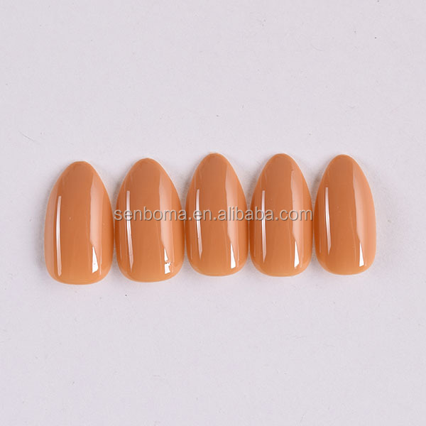 Senboma free sample solid colors glossy acrylic nails for nails salons
