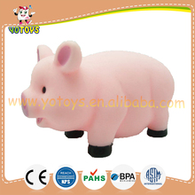Vinyl pig model squirter bath toy