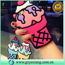 New style summer cherry ice cream silicone phone cases for iphone 5 mobile phone silicon case cover