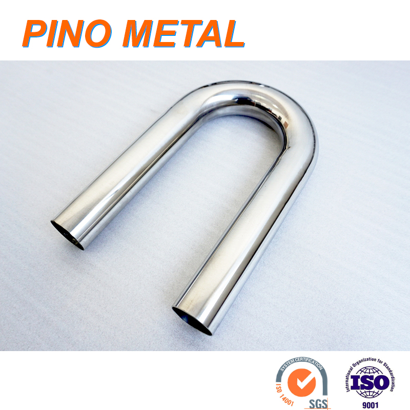 BE20S5 <strong>R</strong> 2 inch stainless steel raw finish mandrel bent 180 degree elbow