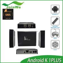 Amlogic S905 Android Tv Box K1 Plus With Lollipop Android 5.1 Os 1G Ddr3 8G Nand Flash 5G Wifi 4K2K Video Supported