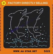 Dolphin hotfix motif, hotfix rhinestone transfer wholesale in China