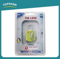 Toprank BSCI factory new luggage tsa 3 dial combination lock with great price
