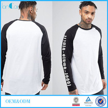 Wholesale Cheap Clothing for Men with Contrast Raglan Sleeves T-shirt Men LC7208-G