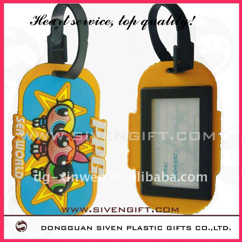 Customized eco-friendly plastic travel name tag luggage tag with high quality