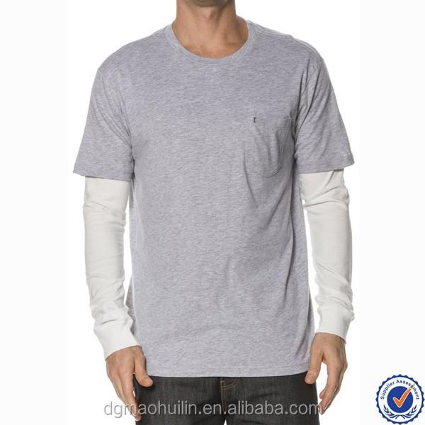 Custom Blank Tee Shirts With Long Sleeves Mens Baseball