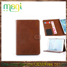 Genuine Real Retro Leather Card Stand Smart Case Cover for Apple ipad Mini 123