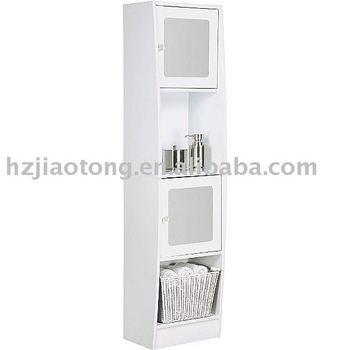 White wooden Bath Storage Tower cabinet rack chest  White wooden Bath  Storage Tower cabinet rack. White Wood Bath Rack