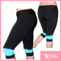 hot girl sexy slim polyester yoga legging yoga tight capris pants