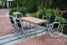 GW0137SET new classic furniture rattan outdoor inflatable furniture dining set