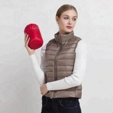 New Clothing Wholesale Women Ultra Light Down Vest Water Proof Fashionable Sleeveless Feather Jacket