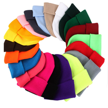 Hot selling Fashion unisex women men sport winter knitted hat custom warm ski cap solid color beanie hats