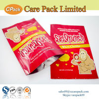 Custom printinig heat seal plastic foil bag for snack packaging