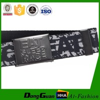 heat transfer pattern webbing Custom canvas casual belts