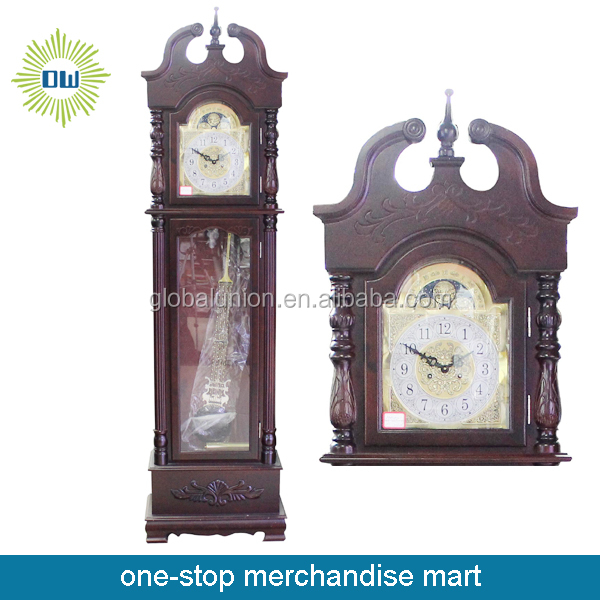 Antique Wood Grandfather Floor Clock
