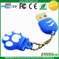 Feet shaped USB, Footprint USB Flash Drive Memory Stick with keychain