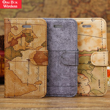 New Hot Most Popular Map Design Pattern for Girls Compact Flip Leather Car Key Case For Iphone 5C